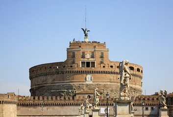 Mausoleum of Hadrian - Castel Sant Angelo in Rome. Italy