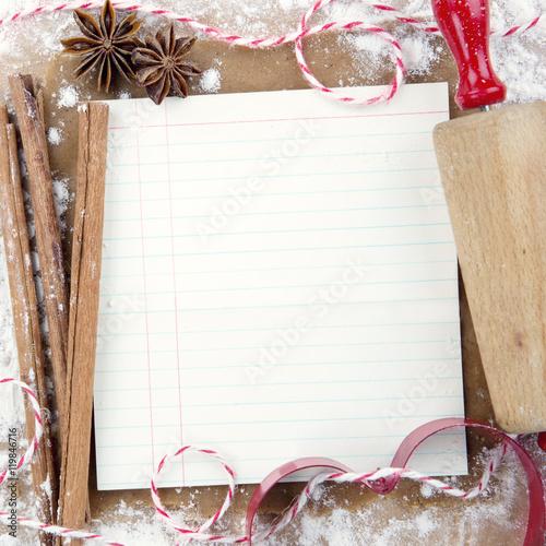 christmas baking background with - photo #22