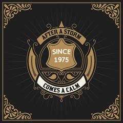 Vintage label premium - vector