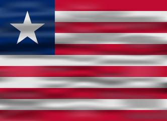 realistic flag liberia