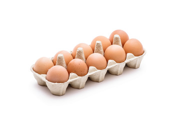 Organic Egg Pack Isolated on White