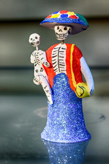 Day of the Dead Mother and Child figurine