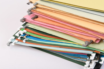 Document file colorful on isolated background