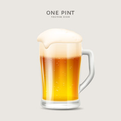 glass of beer - vector illustration or icon