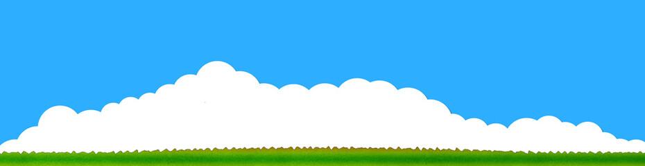 雲 入道雲 草原