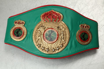 World Belt Boxing champion. Universal boxing organization.