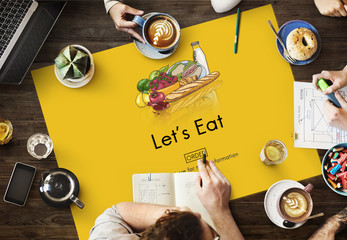 Eat Eating Living Nutrition Dining Diet Food Concept
