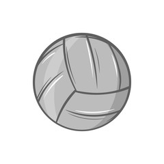 Volleyball icon in black monochrome style isolated on white background. Sport symbol. Vector illustration