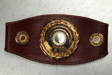 "A belt of the champion on Boxing under the version of magazine ""about box"" the Commonwealth of independent States"
