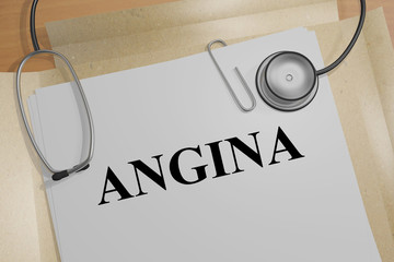 Angina - medical concept