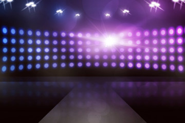Empty stage with lamp sparkling, you can put your design on it