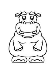 little hippo funny sweet cute thick comic cartoon hippopotamus fat