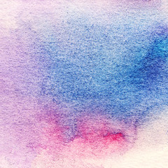 Watercolor Texture. Hand Painted Background. Wet Watercolor Was