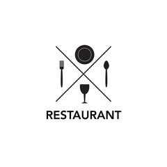 restaurant concept logo icon design template vector