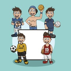 ball sport sign illustration design