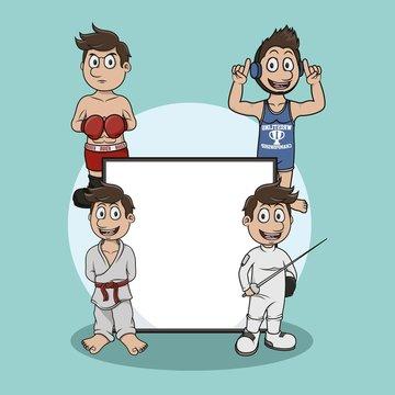self defense sign illustration design