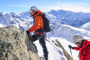 Hochtour mit Bergführer im Winter