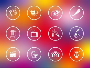 Symbols of culture, arts and entertainment
