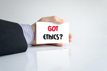 Got ethics text concept
