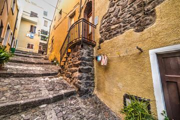 narrow alley in Castelsardo