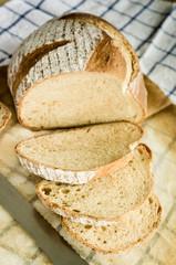 freshly baked homemade whole wheat grain bread
