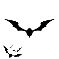 vector halloween bat icon.