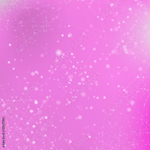 """Pink Technology Background with Particle, Molecule ..."