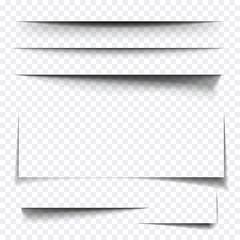 Paper sheet shadow effect