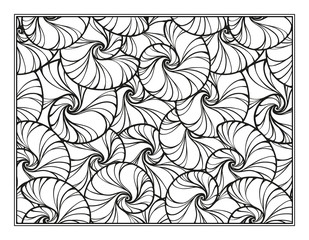 Snail shells ornamental coloring page