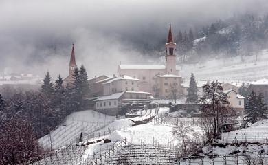 Faedo, Trento. Paesaggio invernale