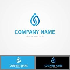 line drop water logo
