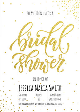 Bridal Shower invitation card template.