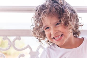 Portrait of positive kid