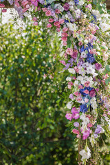 floral decoration compositions on wedding