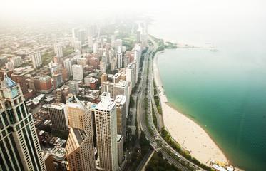 Foto op Plexiglas New York Chicago and Michigan lake.