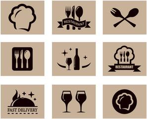 concept restaurant menu set