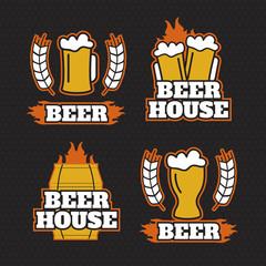 Vintage beer brewery logos, emblems
