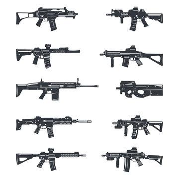 assault rifles set