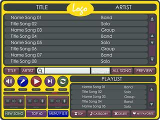Multimedia Player Song for Karaoke etc