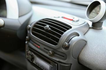 Car dashboard, closeup