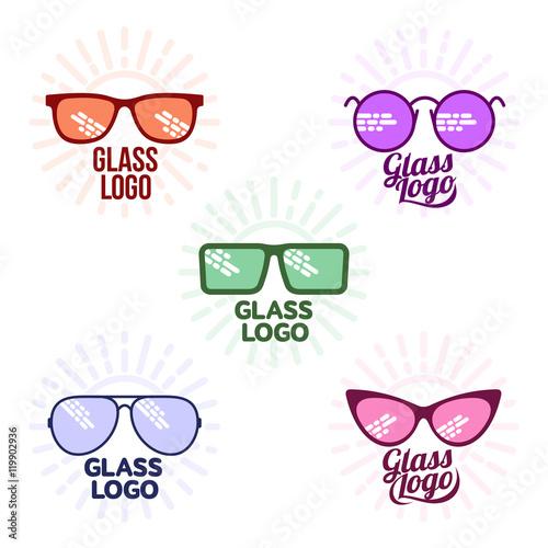 fe8193c0aa5 Glasses logo set