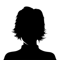 Woman profile picture - vector