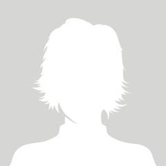 Profile picture illustration - woman vector