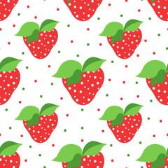 Seamless pattern of strawberry