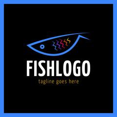 Fish abstract vector design logo template. Creative   concept