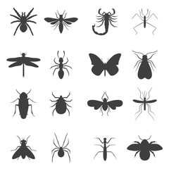 Insect icons set.