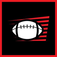 American football label. Rugby logotype emblem