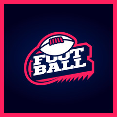 Modern professional american football template logo design with ball