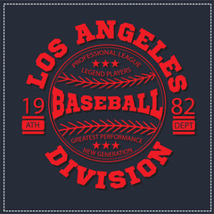 College Los angeles varsity division sport baseball america typography, t-shirt graphics. Very easy to use for apparel.
