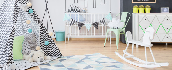 Baby space for sleep and play